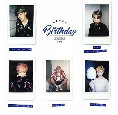 Single Bts Jimin Birthday Instax Polaroids 방탄소년단 Bangtan Beyond The Scene Ebay