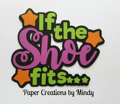 CRAFTECAFE MINDY HALLOWEEN ZOO DIE CUT  premade paper piecing scrapbook title
