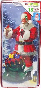 Christmas-Santa-Holiday-Glitter-Cards-with-Matching-Envelopes-18-count
