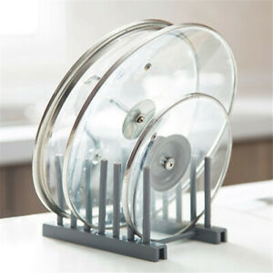 Kitchen-Storage-Pot-Lid-Rack-Plate-Organizer-Dishes-Draining-Pan-Cover-Holder