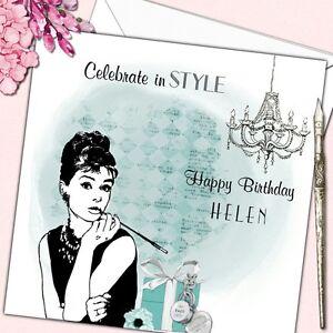 Image Is Loading Personalised Birthday Card Female Audrey Hepburn Mother Daughter