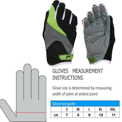 Fahrrad Handschuhe Zenmaster Fullfinger 3 Größen Stretch Grip Gelpads schwarz
