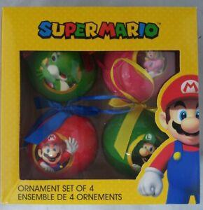 Nintendo Super Mario Christmas Ornament Decoration Set of ...