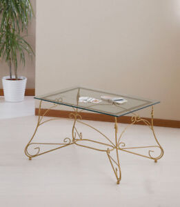 Tavolini In Ferro Battuto Da Salotto.Tavolino Da Salotto Rettangolare In Ferro Battuto Modello