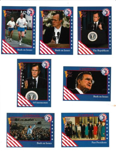1992 Wild Card Decision /'92 Presidential Campaign Factory Sealed Card Set 100