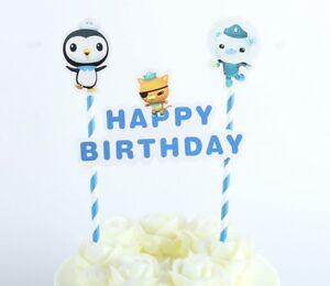 Image Is Loading OCTONAUTS HAPPY BIRTHDAY CAKE TOPPER BOY GIRL