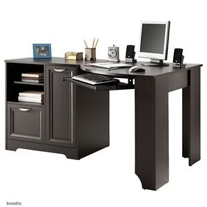 NEW Corner Computer Desk (L-shaped Home Office laptop), Espresso, Free