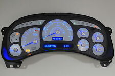 8A 03-04 2003-2004 CUSTOM ESCALADE WHITE GAUGE FACE BLUE LED REPLACEMENT CLUSTER