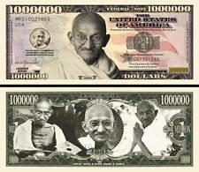 GANDHI - BILLET MILLION DOLLAR US ! Collection PRIX NOBEL PAIX Non Violence INDE