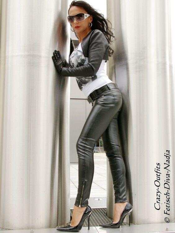 Lederhose Leder Hose black Knalleng Lowwaist Größe 32 - 58 XS - XXXL
