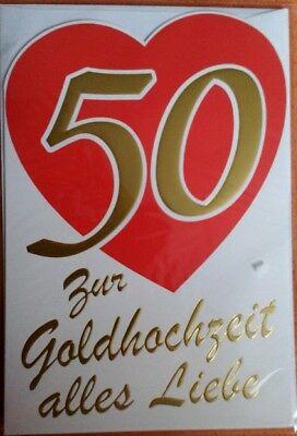 Susy Card Hochzeitskarte Xxl Maxicard Goldene Hochzeit 50