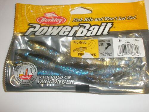 "Berkley Powerbait Pro Grub 3/"" 7cm  10pk ALL COLOURS Lure fishing tackle"