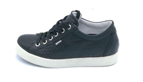 Igi/&Co 1147400 sneaker lacci in nappa nera trapuntato suola gomma