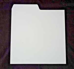 20-x-FILOTRAX-7-034-Record-Dividers-WHITE-seven-inch-collection