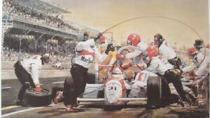 MARLBORO-PENSKE-AL-UNSER-INDY-500-1994-VINTAGE-ART-PRINT-By-JOHN-GABLE