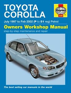 haynes owners workshop manual toyota corolla petrol 97 02 service rh ebay com au Toyota Alphard 2016 Toyota Avensis