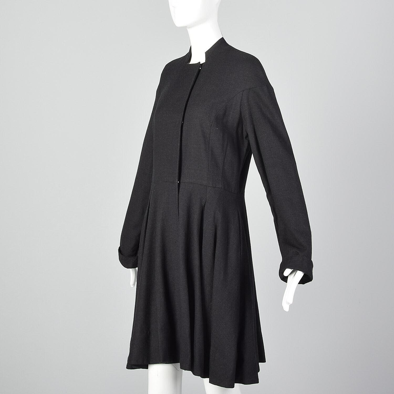 Medium Gary Graham 2000s Wool Princess Coat Charc… - image 4