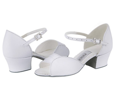 Girls Libby white leather ballroom shoes by Freed  size 12-5 inc 1//2 sizes