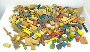 Blocs jouets jouets enfants de dinosaures enfants de bûches mélangées de cru vintage de Lincoln