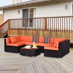 7-Piece-Rattan-Sofa-Set-Wicker-Garden-Outdoor-Furniture-Orange