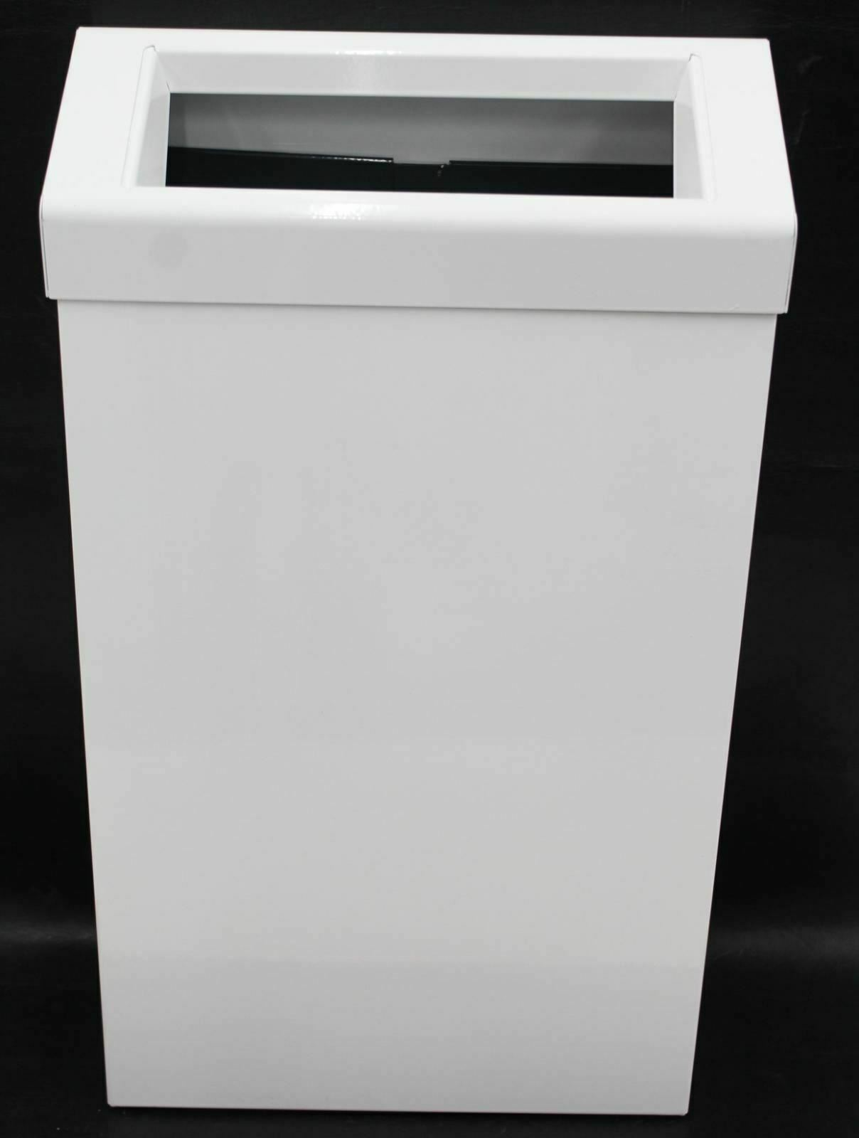 JDS PL70MBS Stainless Steel 30 Ltr Sanitary Waste Bin Wall Mounted White BNIB