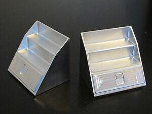Pair Aluminum Side Step Style Tool Box Tamiya 1//14 King Knight Grand Hauler Man