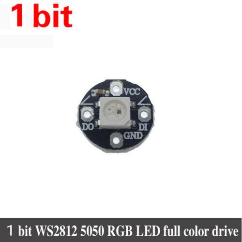 WS2812 WS2812B 2811 5050 RGB Rainbow LED LED Lamp Panel Module 1//8//12//16//24Bit.