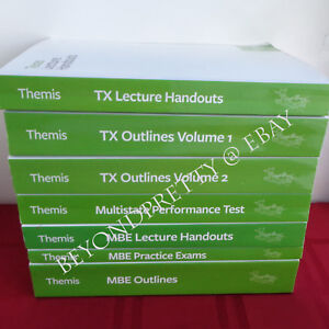 Details about 2017 Themis Bar Review Texas Set ~ TX Outlines MBE Outlines  Practice Exams MPT