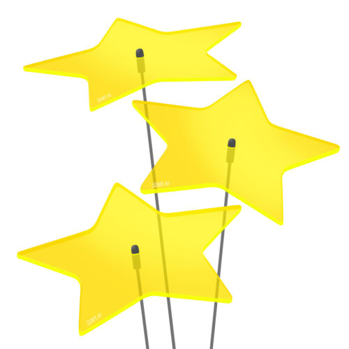 3 pezzi sunplay sole scatenala ø20cm Suncatcher spina da giardino Stelle Stella Giallo