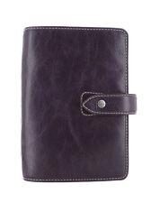 Filofax Malden Personal Size Purple Buffalo Leather Organiser Diary 425850