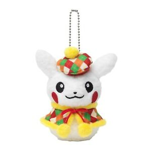 Pokemon-Center-Christmas-Mascot-Pikachu-Snowman-Female-Plush-Toys-Doll-Key-Chain