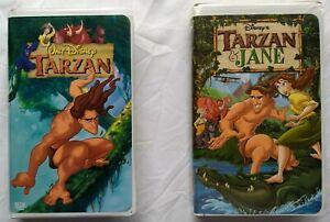 Tarzan-Tarzan-amp-Jane-Walt-Disney-VHS-Lot-Animated-Movies-Phil-Collins-Songs
