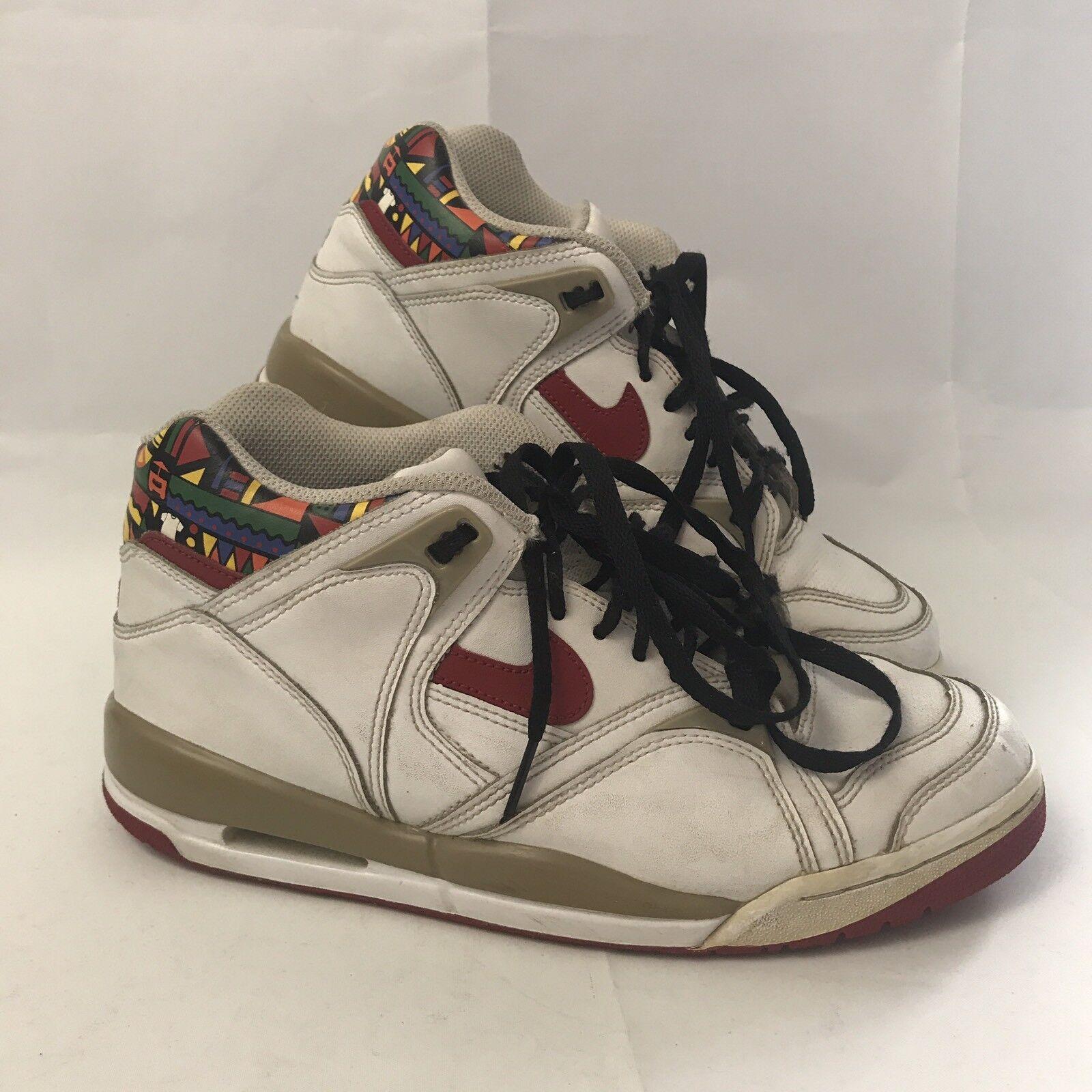 Nike Air Retro Geometric White Mens 2008 Mid High Top Shoes Sneakers Sz 8.5 Seasonal clearance sale