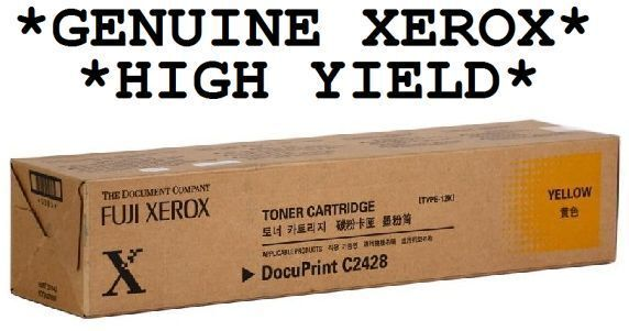Fuji Xerox Genuine CT200385 YELLOW Toner Cartridge Xerox DocuPrint C2428 106R496