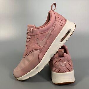 Nike-Air-Max-Thea-Women-039-s-Scarpe-TAGLIA-5-5-ROSA-Scarpe-Basse-Scarpe-Da-Ginnastica-in-Pelle-EUR