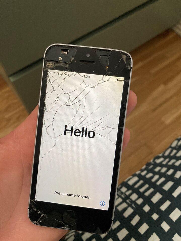 iPhone SE, 32 GB, sort