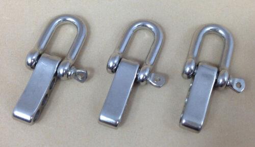 U Adjustable Shackle 5mm for Paracord Bracelet 3pcs Stainless Steel D