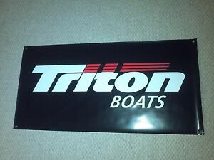 Details about TRITON BOATS BANNER BLACK 48
