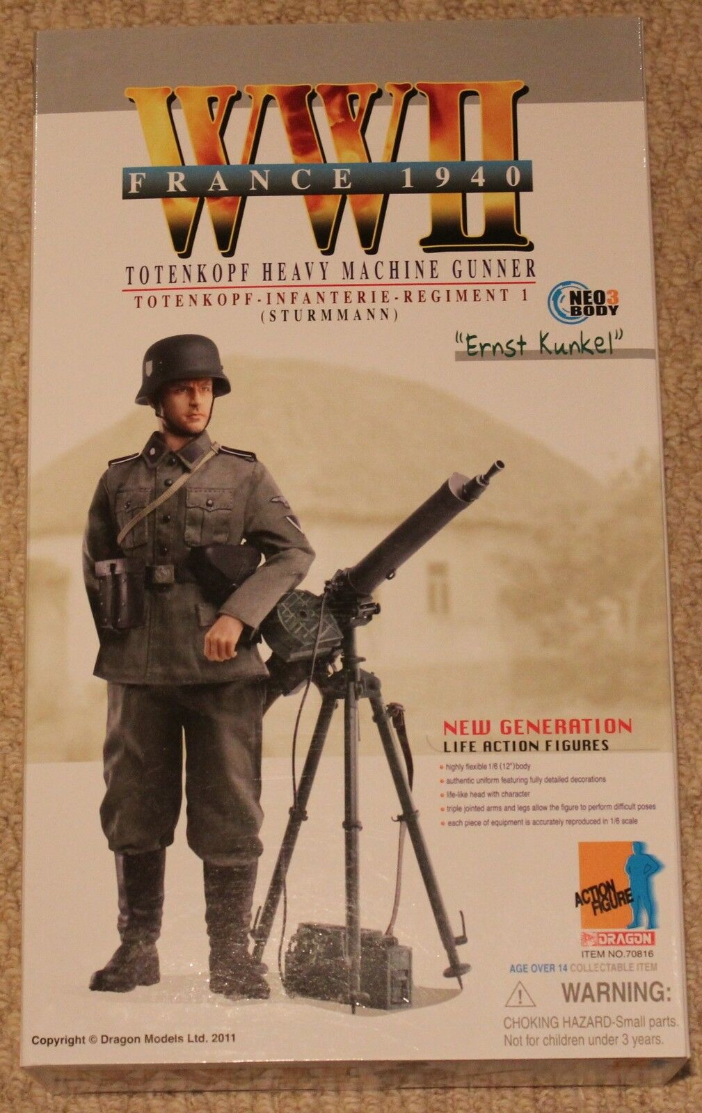 Dragon action figure 1/6 ww11 german ernst 70816 70816 70816 12'' boxed  did cyber hot toy e341a4