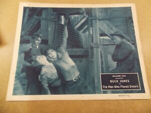 "THE MAN WHO PLAYED SQUARE(1924)BUCK JONES ORIGINAL 11""BY14"" LOBBY CARD NICE!"