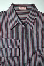 Thomas Pink Women's French Cuff Multi-Color Striped Oxford Dress Shirt Size 6 US