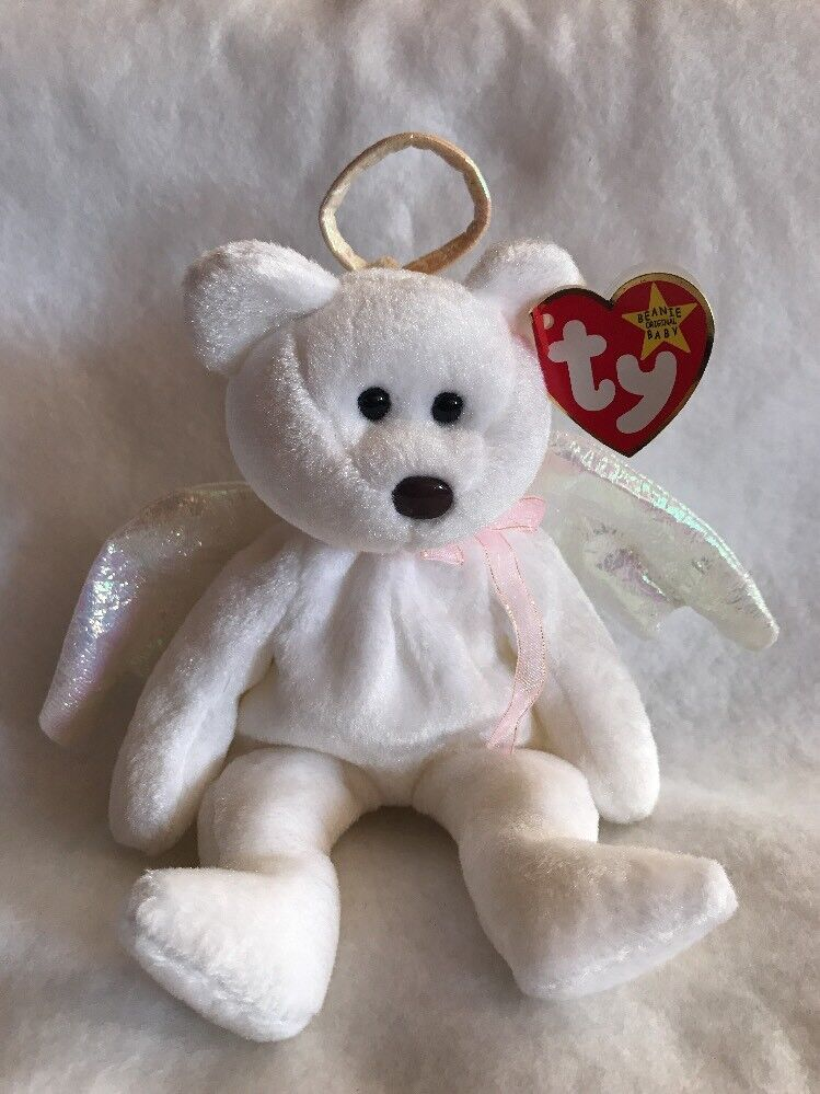 TY Beanie Baby Halo the Bear 1998 Gasport Rare With Tag Error