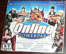 PC DVD. On DVD Online Powerpak (Dragonica Online Perfect World Metin 2 War Rock)