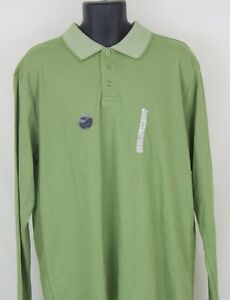53d1639d R&R Casual Mens Long Sleeve Green Polo Shirt Size Large L NWT | eBay