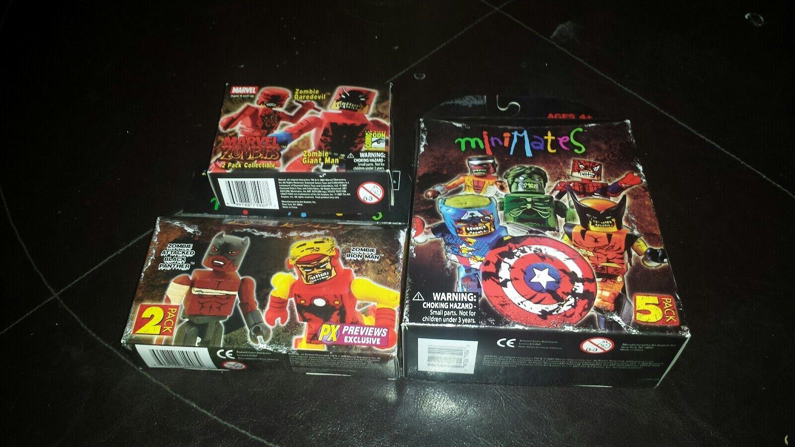 Marvel Zombies Minimates Lote Completo