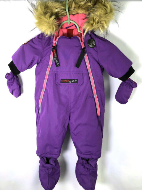 1ae46b3ae Infant Girls CANADA Weather Gear Purple Pink   Gray SnowSuit NWT 3-6 ...