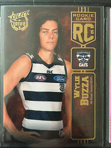 2016-AFL-Select-Certified-Rookie-Card-RC69-Wylie-Buzza-Geelong-101-240