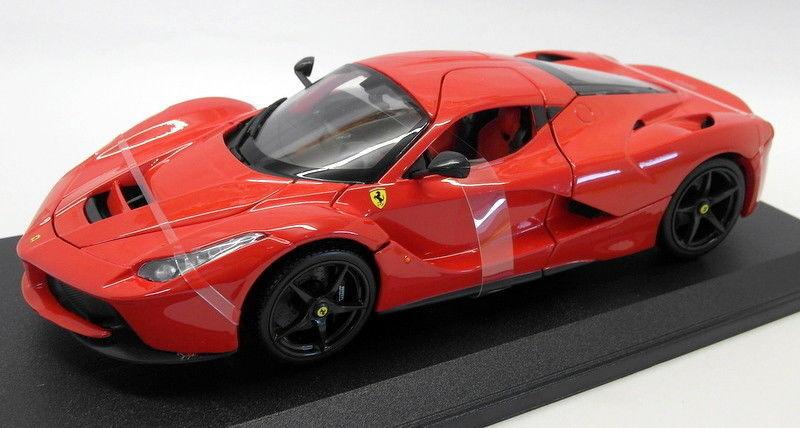 bienvenido a orden Burago Diecast Escala 1 18 18-16001R Ferrari LaFerrari exhiben exhiben exhiben Rojo Negro Ruedas  descuentos y mas