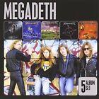 5 Albums by Megadeth (CD, Apr-2013, EMI)