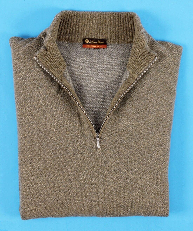 865 LORO PIANA 100% CASHMERE Roadster Pull Sweater - Grün - 56 XL 2XL